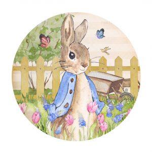 Free Peter Rabbit Round Label