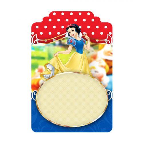 Free Snow White Printables - Tag Label Editable Template