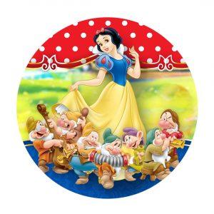 Free Snow White Round Label