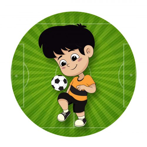 Free Soccer Round Label