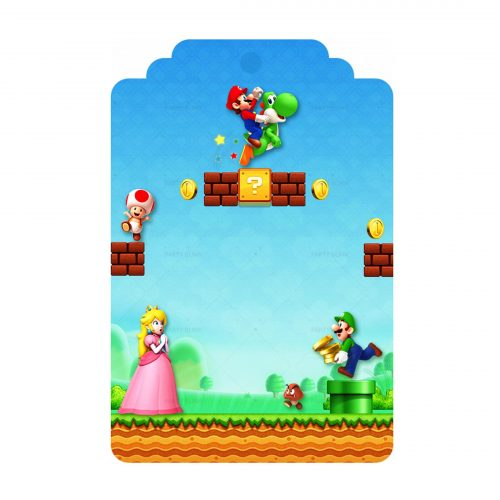 Free Super Mario Tag Label Editable Template