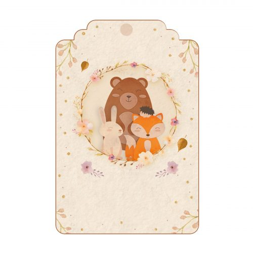 Free Woodland Tag Editable Template download and print