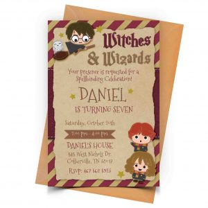 Harry Potter Invitation Personalized
