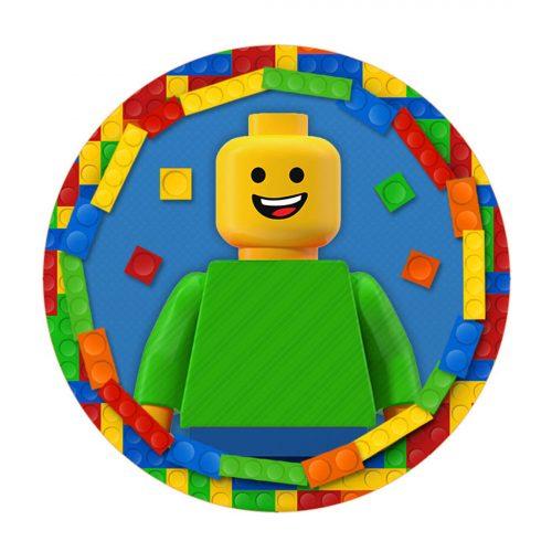 Lego Round Label