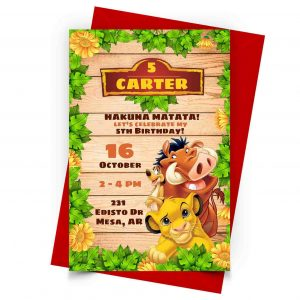 Lion King Invitation Personalized 1
