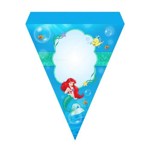 Little Mermaid Letter Banner Free Printable