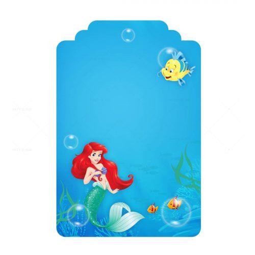 Free Little Mermaid Editable Tag Template