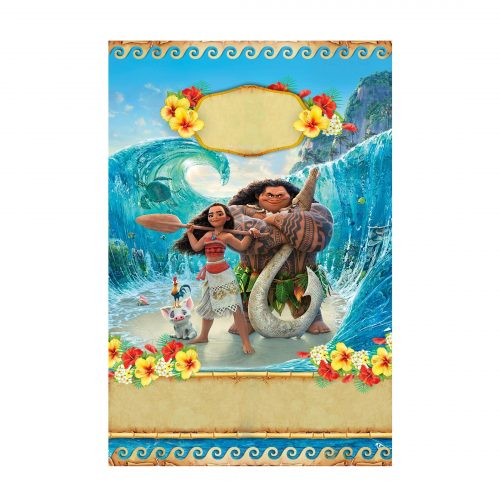 Editable Moana Invitation Free