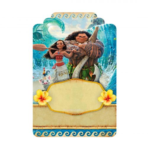 Free Moana Tag Label Editable Template