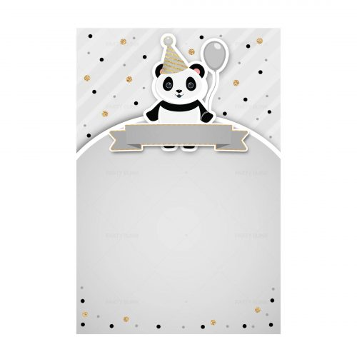 Panda Printable Invitation Free