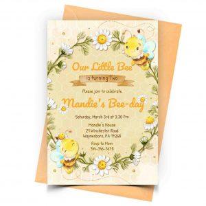 Personalized Bee Invitation