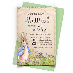 Peter Rabbit Invitation Personalized