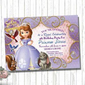Princess sofia Invitation