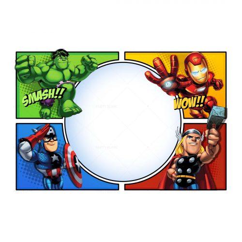 Printable Avengers Invitation Free