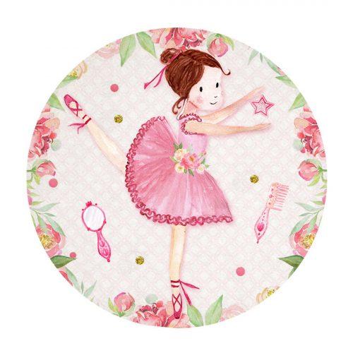 Printable Ballerina Round Label