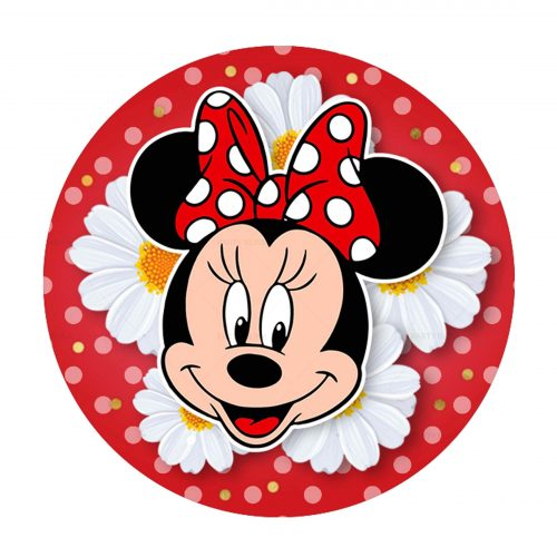 Printable Minnie Round Label Free - Party Blink