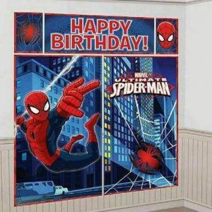 SPIDERMAN superhero party backdrop Spider man ebay