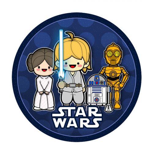 Star Wars Round Label
