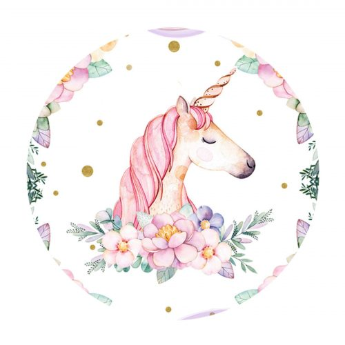Unicorn Round Label