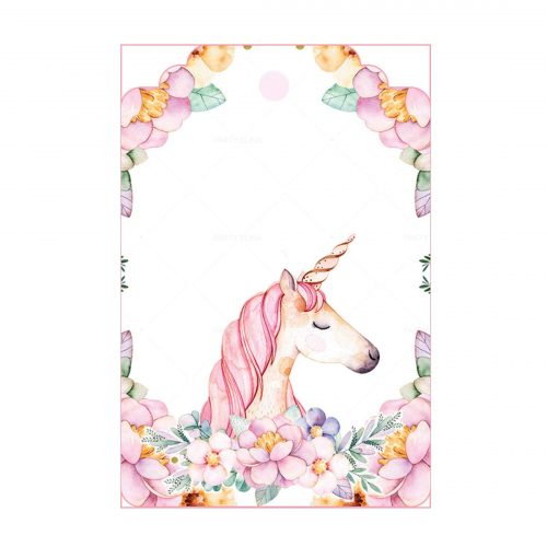 Unicorn Tag Free Editable Template download - Party Blink