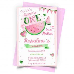 Watermelon Invitation Personalized