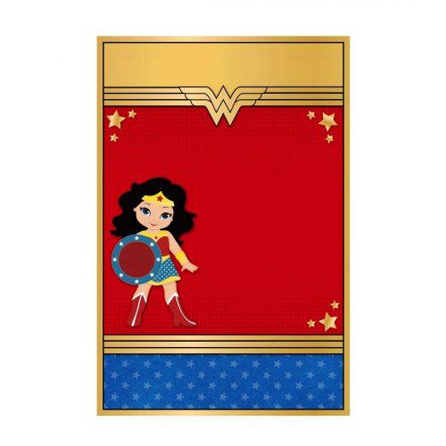 Wonder Woman Invitation Free Editable Printable